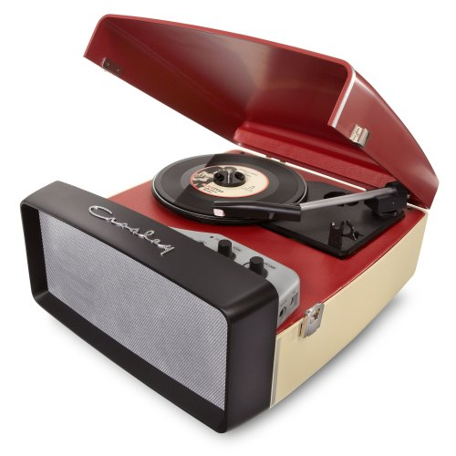 Transportable Sound System (Crosley CR6010A-RE Collegiate Portable USB Turntable with Software for Ripping and Editing Audio, Red & Cream)