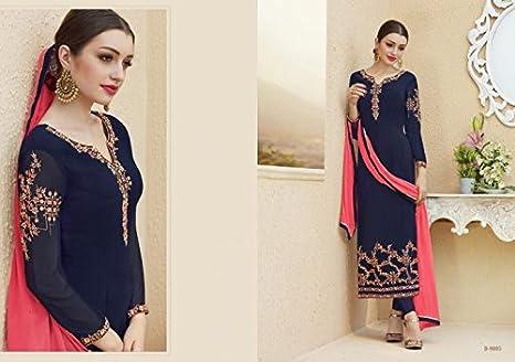 Amazon Com Bollywood Party Palazzo Style Straight Salwar Kameez