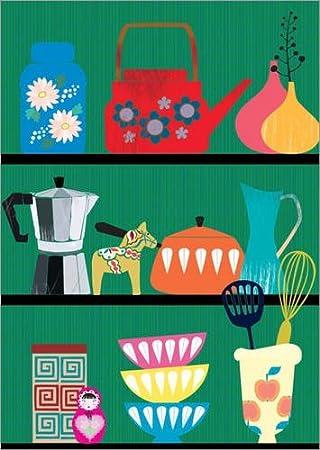Posterlounge Acrylic print 50 x 70 cm: kitchen shelf by Elisandra Sevenstar