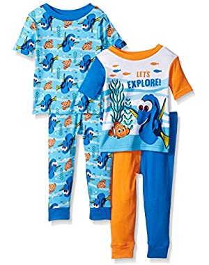 Disney Boys' Finding 4-Piece Cotton Pajama Set