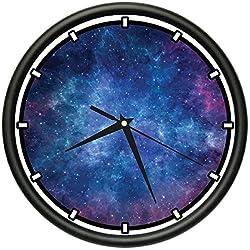 NEBULA Wall Clock space stars galaxy cool gift