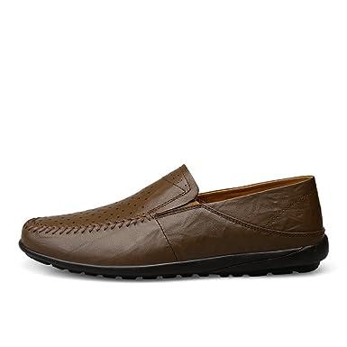 2018 neue Männer Erbsen Schuhe reine Hand genäht weichen Boden Herrenschuhe  Leder Herrenschuhe große Größe treibende dfa3bf67c0