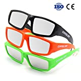 CPPSLEE Solar Eclipse Glasses- CE and ISO Certified Safe for Great American Total Solar Eclipse Shades August 21, 2017 (3 Pack - Plastic of set)