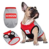 iChoue Dogs Clothes Vest Sports T-Shirts for French Bulldog Pug Boston Terrier Frenchie Cute Pet Sweatshirt – M Red Grey Review