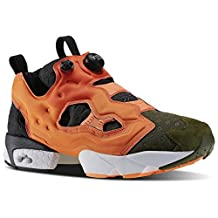 Reebok Instapump Fury ASYM Mens Running Trainers Sneakers (US 11.5, canopy green peach red V67791)