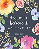 2020-2024 Monthly Planner 5 Years-Dream It, Believe It, Achieve It: 60 Months Yearly Planner Monthly Calendar, Agenda Schedule Organizer and Appointment Notebook with Federal Holidays