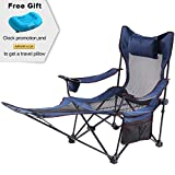 Camp Solutions Light Weight Backpacking Reclining/lounging Camping Folding Chair with Headrest & Footrest