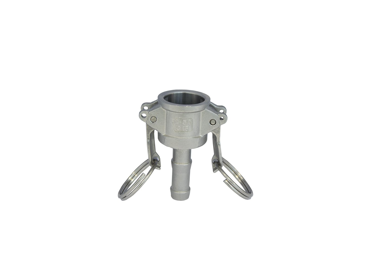 Dicsa ZC015 Camlock Type C, Stainless Steel, Female-Serrated Hose, Shank, 1/2' x DN 20 1/2 x DN 20