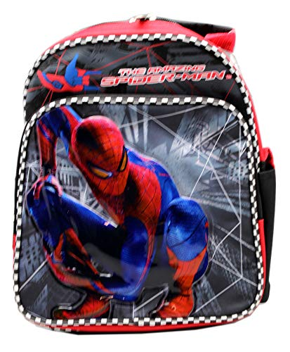 The Amazing Spider-Man Vinyl Patch Front Black/Red Mini Backpack (10in)