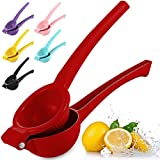 Zulay Premium Quality Metal Lemon Squeezer, Citrus Juicer, Manual Press for Extracting the Most Juice Possible - Red