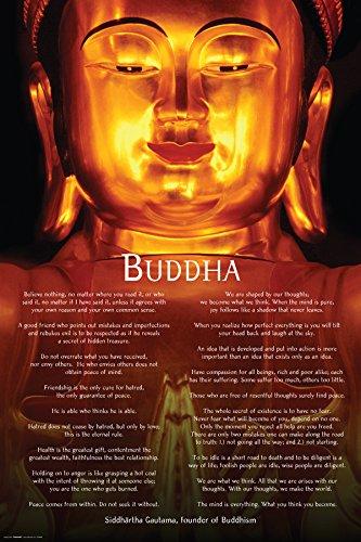 Buddha Siddhartha Guatama Quotes Art Poster Print