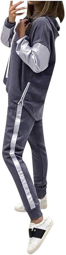 Pantaloni Set Primavera e Estate Ragazze Coulisse Tops Pullover Manica Lunga Suit Casuale Completo Sportivo BaZhaHei 2pcs Tuta Sportiva,Felpa con Cappuccio