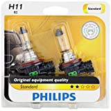 Philips 12362B2 H11 Standard Headlight Bulb, 2 Pack