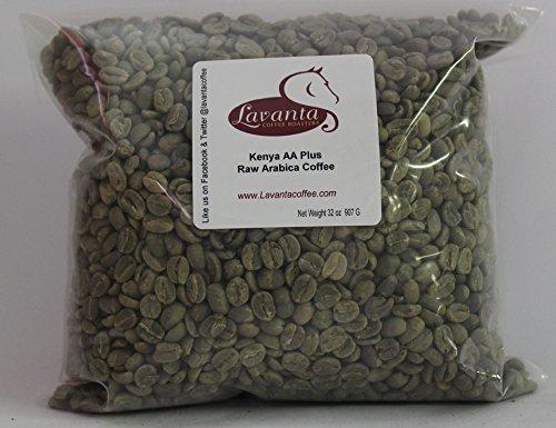Lavanta Coffee Roasters Kenya AA Plus Green Direct Trade Coffee, - Plus Bean