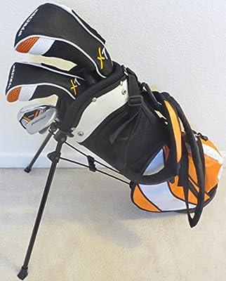 Jr. Kids Golf Club Set with Stand Bag for Children Ages 3-6 Cool Orange Color Premium Junior Professional Quality