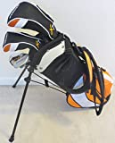 Jr. Kids Golf Club Set with Stand Bag for Children Ages 3-6 Cool Orange Color Premium Junior Professional Quality
