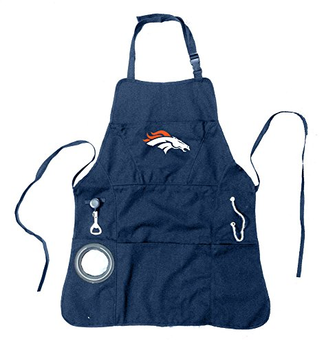 Team Sports America Ultimate NFL Tailgate Grilling Apron, Denver ()