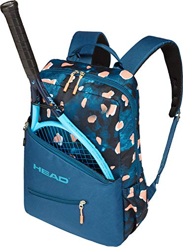- HEAD-Women`s Tennis Backpack Blue and Coral-(726424792146)