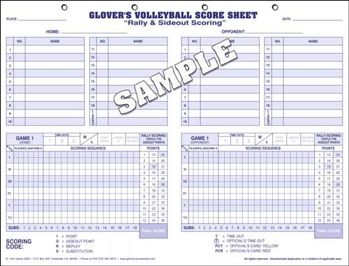 Amazon.com : Glover Volleyball Scoring & Stats, 35 Matches : Coach ...