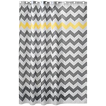 InterDesign Chevron Shower Curtain 72 X Inch Gray Yellow