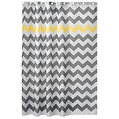 Interdesign Chevron Shower Curtain For The Bathroom Fabric Shower