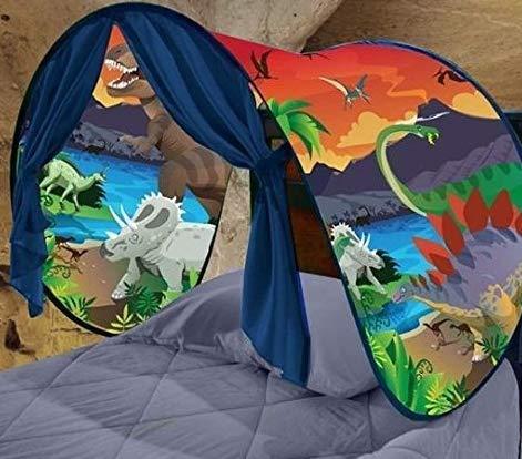 King.MI Enfants r/êve Magique Tente gar/çons Filles Fun Playhouse Chambre d/écoration No/ël Cadeaux d/'Anniversaire Dinosaur Island