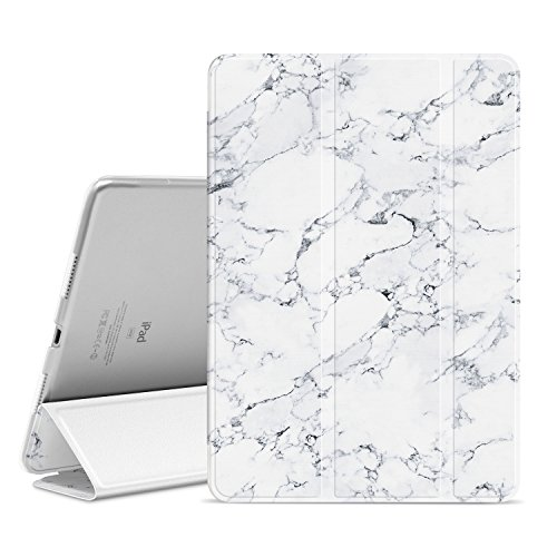 Pro Pattern (Ayotu iPad Pro 10.5 inch Case,Slim Lightweight Auto Wake/Sleep Smart Stand Cover Case with Translucent Frosted Back Magnetic Cover for Apple iPad Pro 10.5 Inch 2017 Release Tablet-The Marble Pattern)