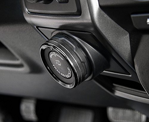 Black Interior Air Condition Knob Cover 6pcs For Ford F150 F-150 2015-2017