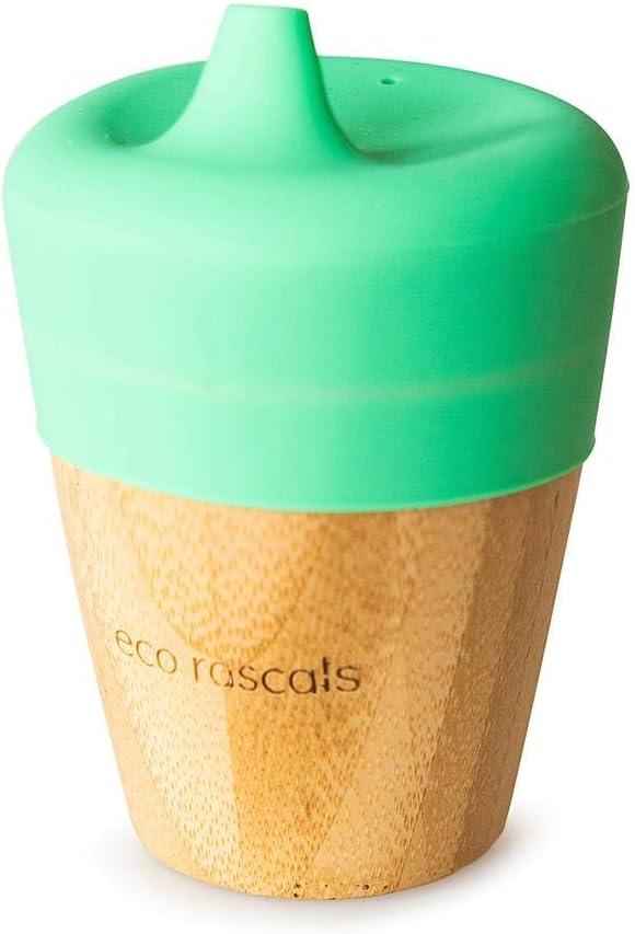 Bambini RASCALS Bicchiere Bamboo Eco 190 ml Coperchio Abbeveratore Taglia Unica Verde