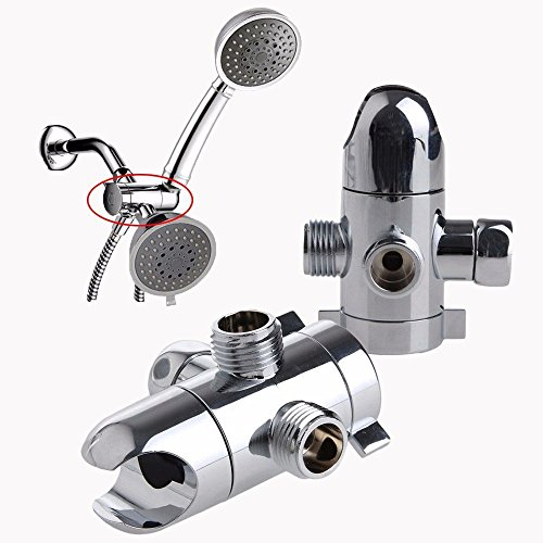 New 3-Way Shower Head Diverter Mount Combo Shower Arm Mounted Valve Fix Bracket by Oppaword shoping