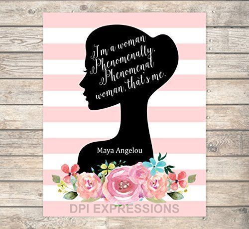 Amazon Phenomenal Woman Maya Angelou Quote Art Print Flowers Adorable Phenomenal Woman Quotes