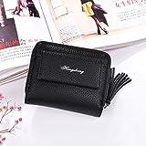 Sinwo Gift!! Women Girl Wallet Clutch Purse Lady Short Holder Zipper Coin Purse Clutch Handbag Bag (Black)