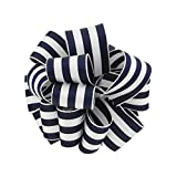 Berwick Offray LLC Offray Carnival Wired Edge Grosgrain Stripe Ribbon-1-1/2 W X 25 Yards-Navy