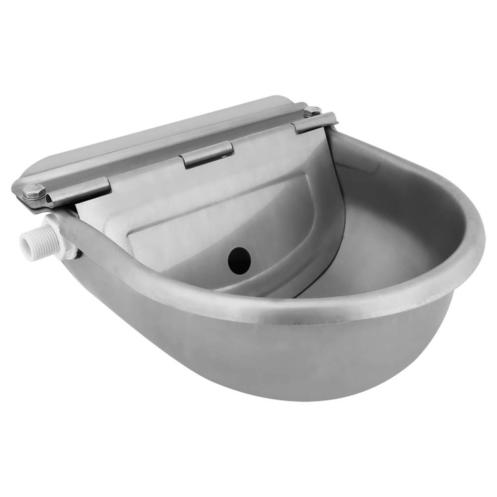 Ants-Store - 4L Stainless Steel Water Trough Bowl Automatic Drinking for Horses Goats Sheep Cattle Tool Accessory