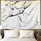 Sunm Boutique Black and White Tapestry Marble Tapestry Wall Hanging Tapestry for Home Decor(51.2'X59.1', Marble)