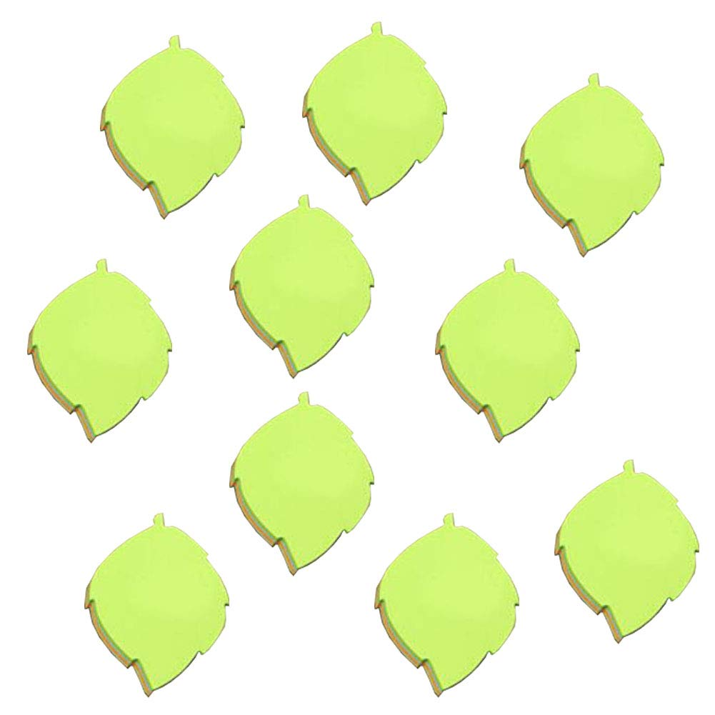 Leaf Shape Sticky Notes Self-Stick Note Colorful Super Sticky Notes Easy Post 10 Pads/Pack Chinashow