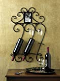 WALL MOUNTED BOTTLE HOLDER WINE RACK SCROLLWORK BAR HOME DECOR Review