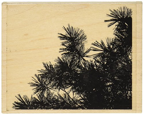 Penny Black 459877 Pine Silhouettes Mounted Rubber Stamp, 3.25 by 3.75-Inch Pine Rubber Stamp