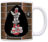 A perfect Father's Day gift or birthday gift for a guitarist Dad. This traditional 11 ounce white ceramic coffee mug is perfect for any hot beverage. Wide mouth and large C-handle allow for easy, every day use. Whether drinking your morning c...