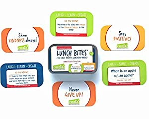 BRAND NEW Lunch Box Note Cards For Kids School Lunch 48 Card Set Includes 8 Kids Cooking Cards | Positive Sayings & Acts of Kindness Along With Jokes, Riddles, and Fun Facts - Lunch Bites