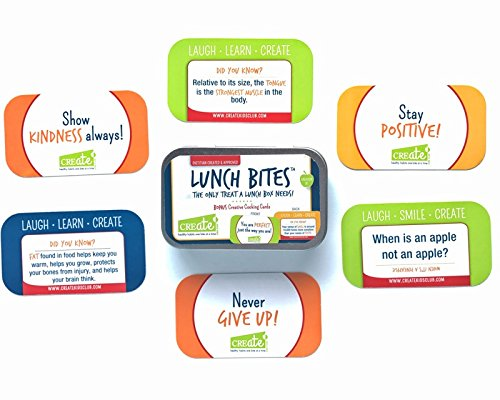 BRAND NEW Lunch Box Note Cards For Kids School Lunch 48 Card Set Includes 8 Kids Cooking Cards | Positive Sayings & Acts of Kindness Along With Jokes, Riddles, and Fun Facts - Lunch - Fun Cards Nutrition Food