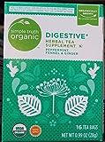 Simple Truth Organic Digestive Herbal Tea 16 Ct Tea Bags (Pack of 2)