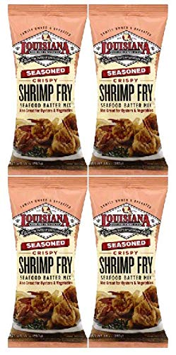 Louisiana Fish Fry Louisiana Shrimp Fry, 10 oz (Pack of 4) by Louisiana Fish Fry Products