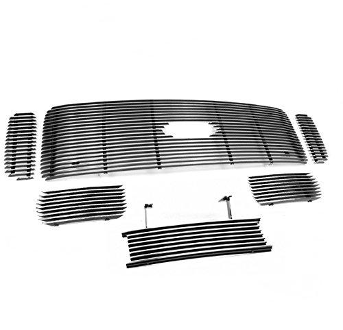 (ZMAUTOPARTS F250 F350 F450 F550 Superduty Upper+Bumper Billet Grille 6Pcs Logo Cut Out )