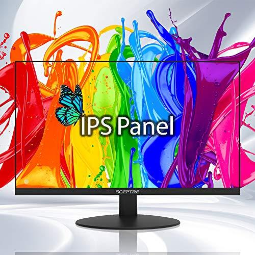 Sceptre IPS Monitor de computadora empresarial de 24 pulgadas 1080p 75Hz con altavoces integrados HDMI VGA, negro máquina (E248W-FPT)
