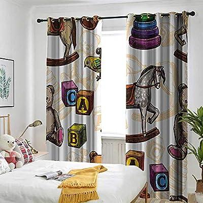 Amazon.de: AndyTours Vintage-Deko-Vorhänge für den Innen ...