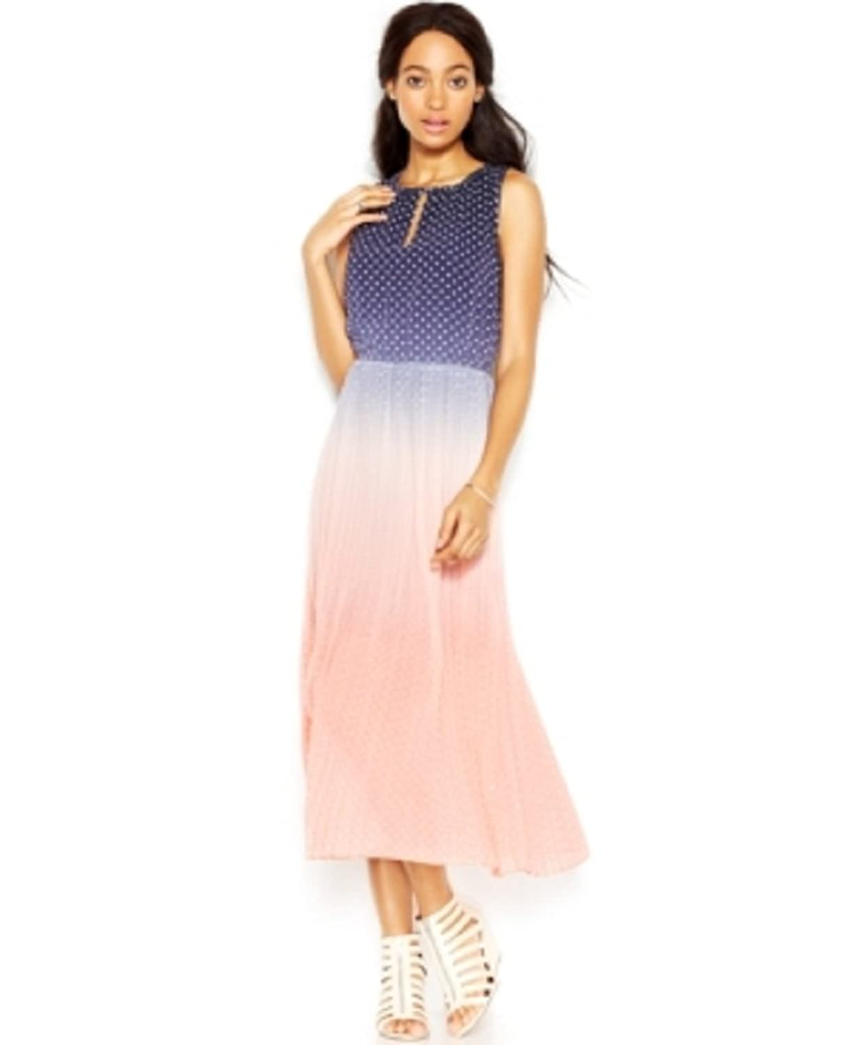 Maison Jules Sleeveless Ombre-Print Midi Dress