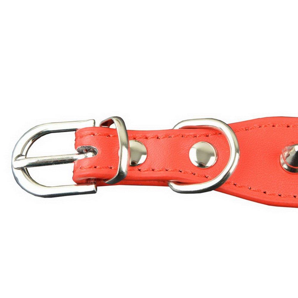 Collari per cani con borchie arrotondati in pelle PU per Pitbull Boxer Mastiff Pastore tedesco