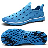 Zhuanglin Men's Mesh Slip On Water Shoes Casual Walking Shoes Size 8 D(M) US Blue