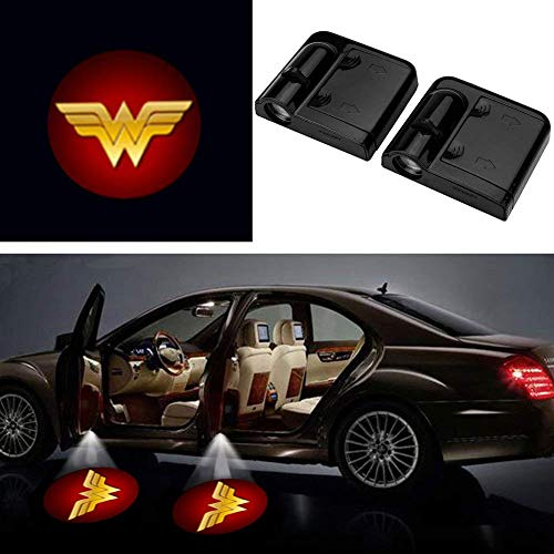 3D Ghost Shadow Emblems Wireless Door Logo Shadow Ghost Lights (2pcs) fit Ford Focus 2 Fiesta F150 Mondeo Transit Mustang etc (Red Wonder -